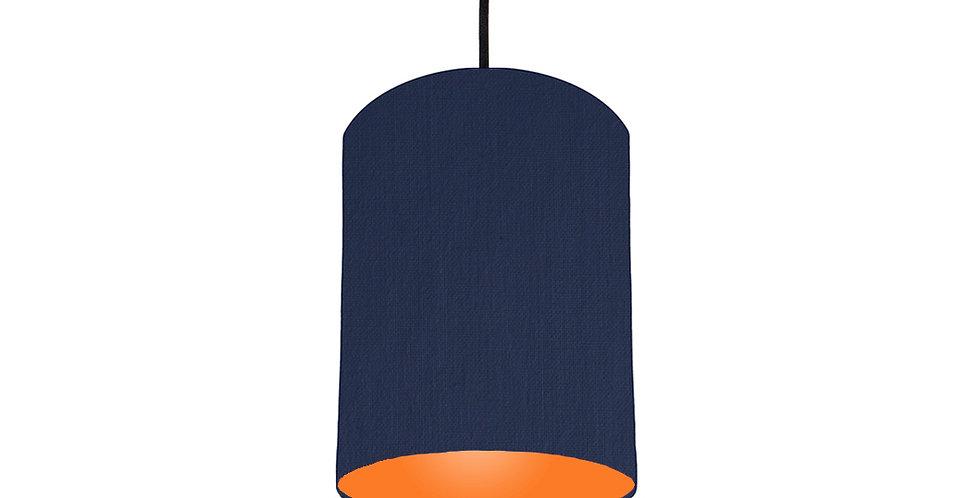 Navy Blue & Orange Lampshade - 15cm Wide