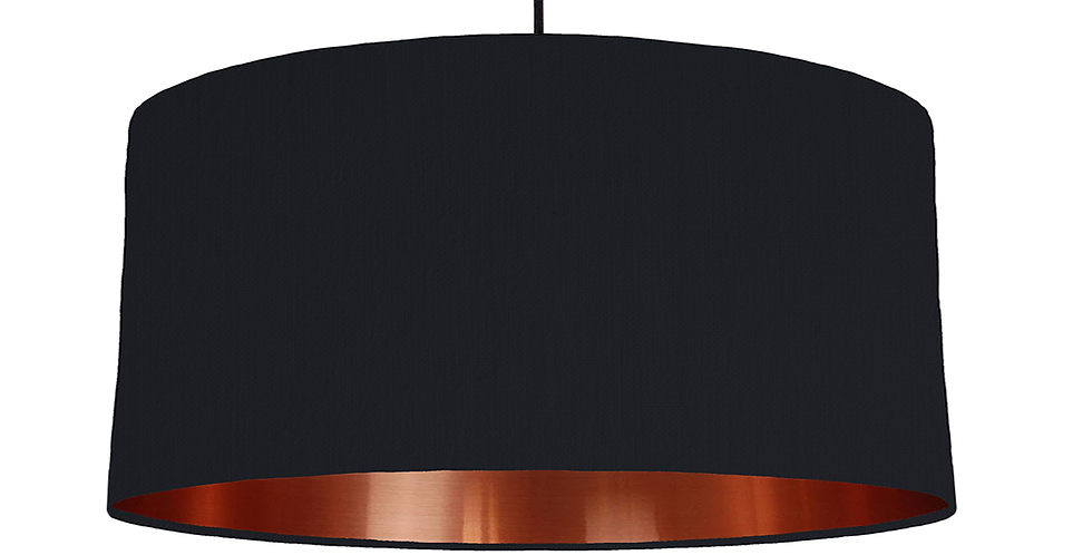 Black & Copper Mirrored Lampshade - 60cm Wide