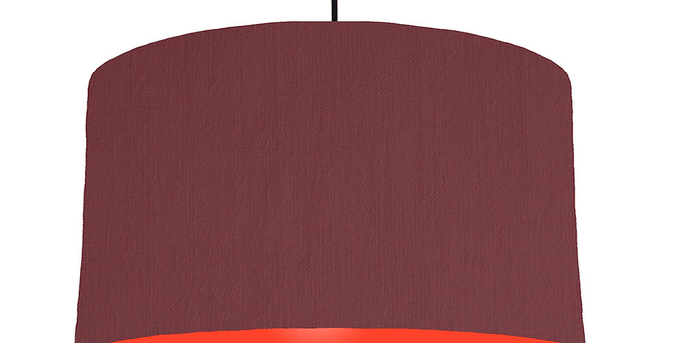 Wine Red & Poppy Red Lampshade - 50cm Wide