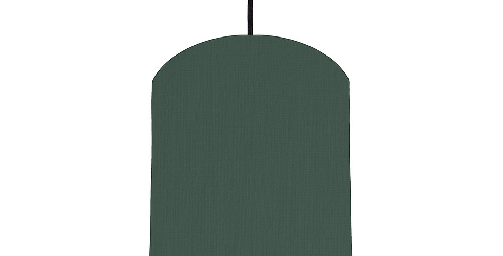 Bottle Green & Orange Lampshade - 20cm Wide