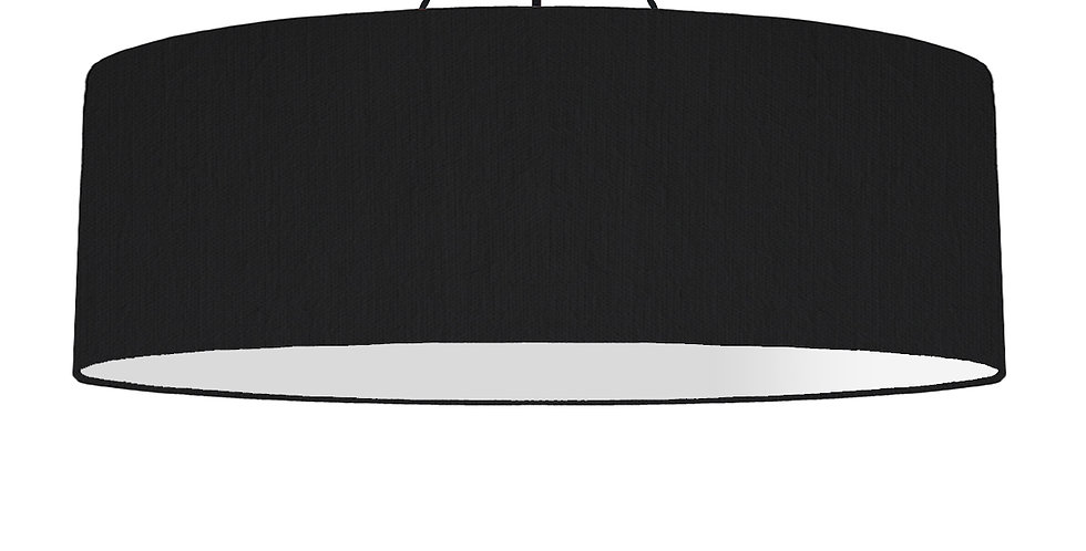 Black & Light Grey Lampshade - 100cm Wide