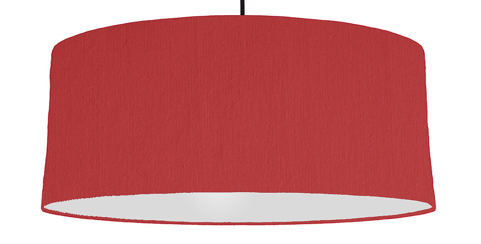 Red & Light Grey Lampshade - 70cm Wide