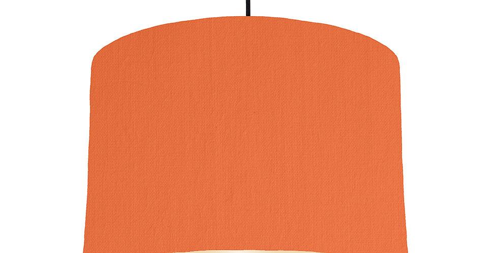 Orange & Ivory Lampshade - 30cm Wide