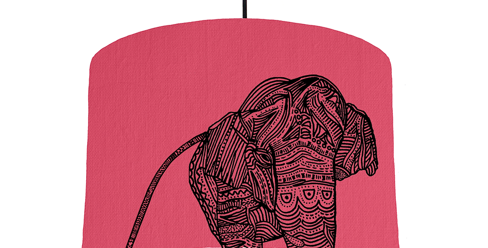 Elephant - Cerise Fabric