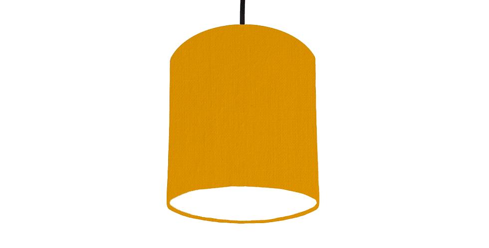 Mustard & White Lampshade - 15cm Wide