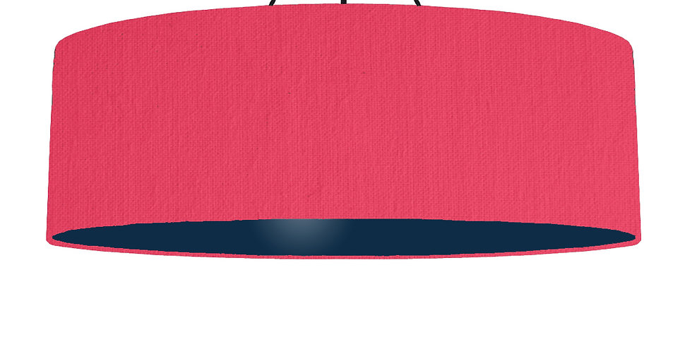 Cerise & Navy Lampshade - 100cm Wide