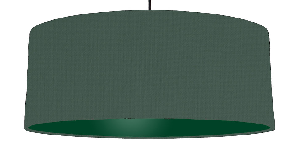 Bottle Green & Forest Green Lampshade - 70cm Wide