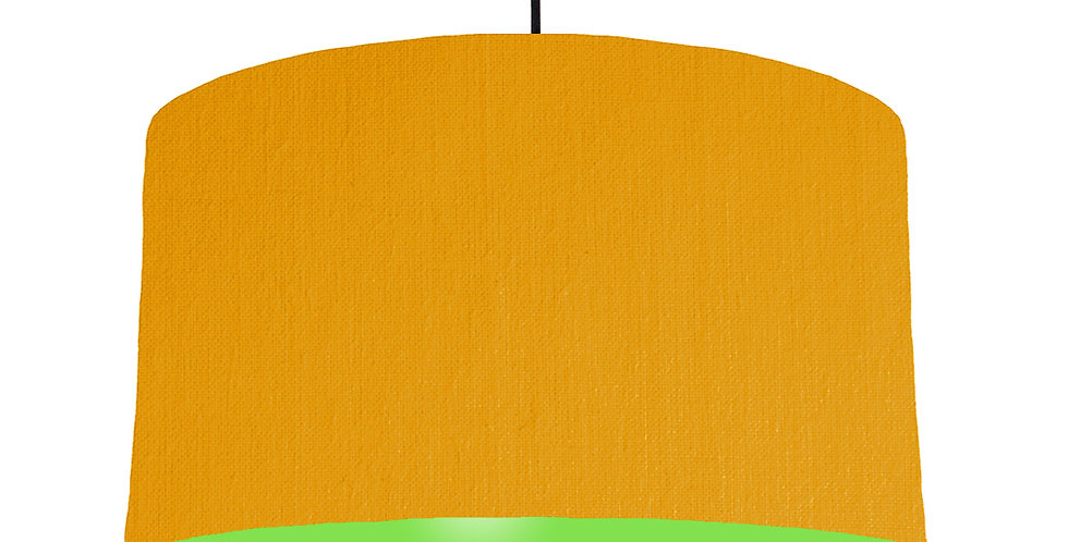 Mustard & Lime Green Lampshade - 50cm Wide