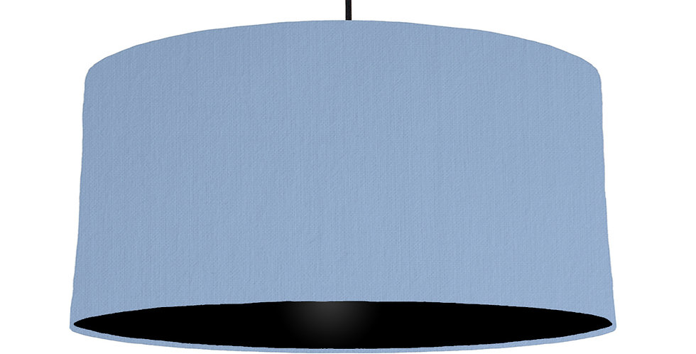 Sky Blue & Black Lampshade - 60cm Wide