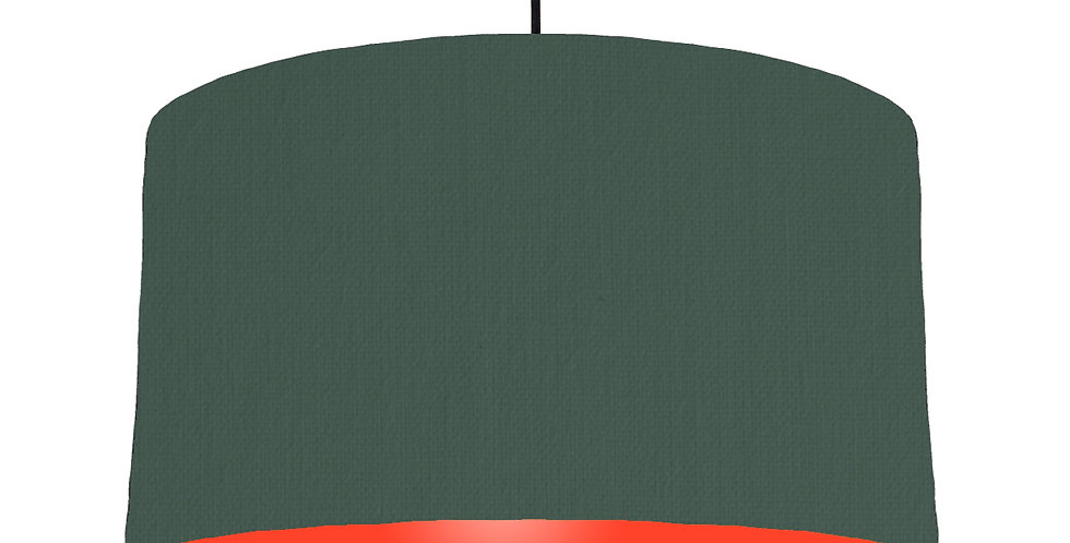 Bottle Green & Poppy Red Lampshade - 50cm Wide