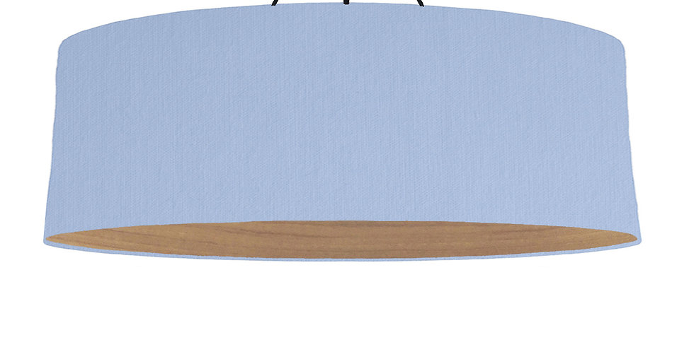Sky Blue & Wooden Lined Lampshade - 100cm Wide