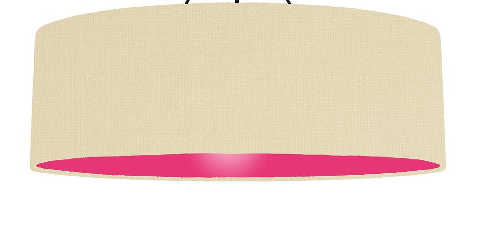 Natural & Magenta Lampshade - 100cm Wide