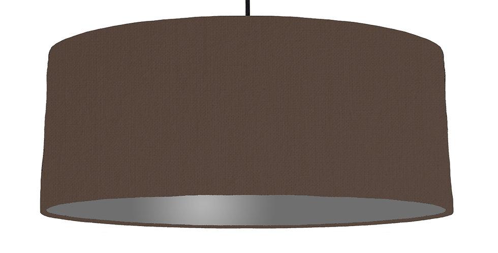 Brown & Dark Grey Lampshade - 70cm Wide