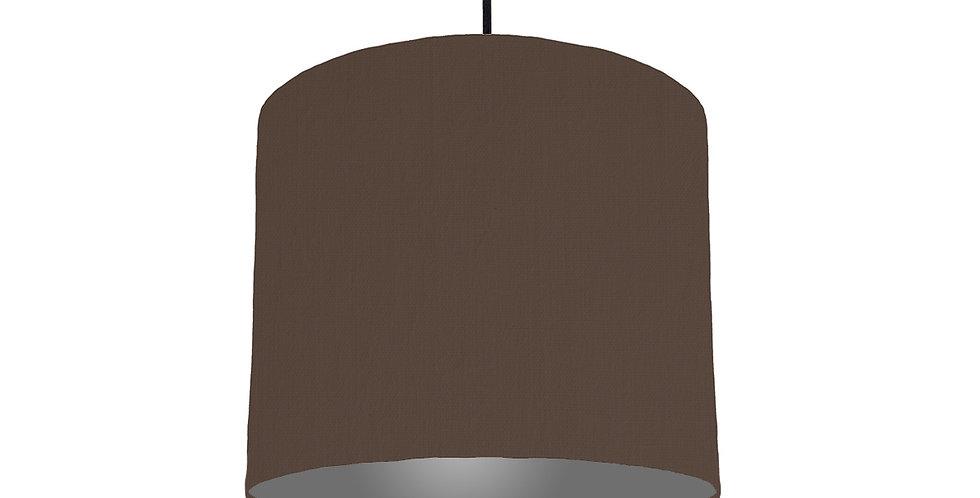 Brown & Dark Grey Lampshade - 25cm Wide