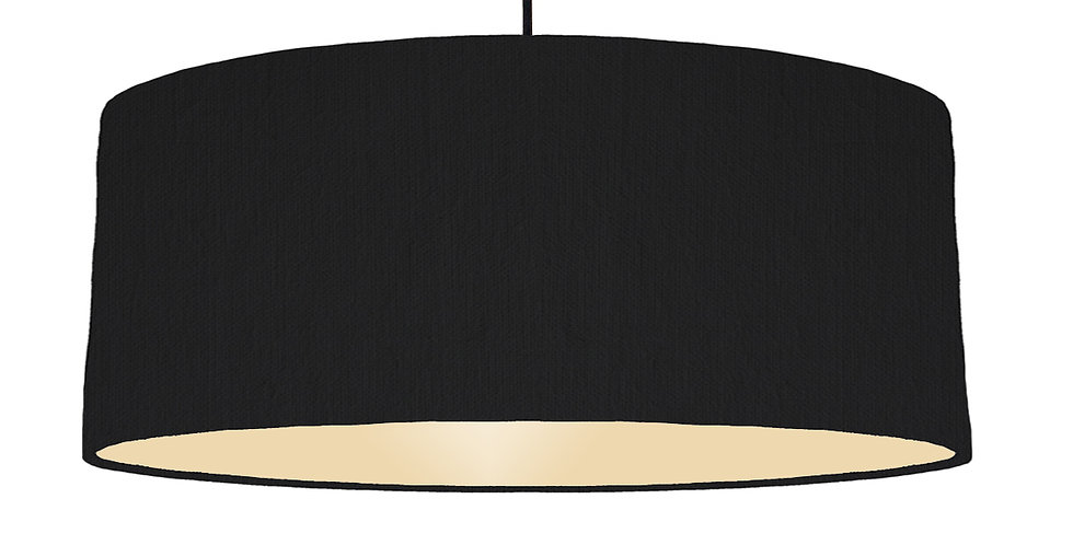 Black & Ivory Lampshade - 70cm Wide