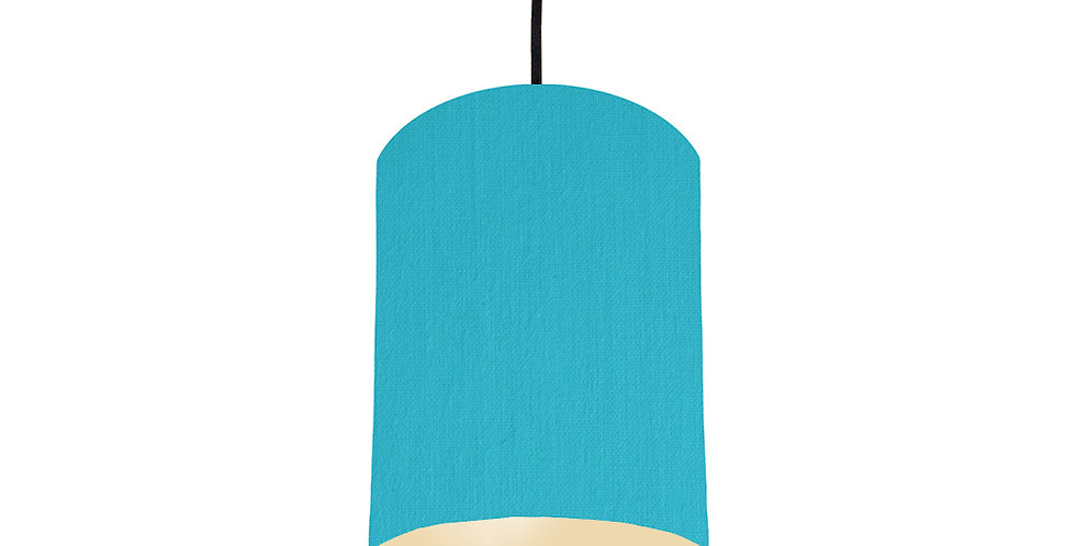 Turquoise & Ivory Lampshade - 15cm Wide