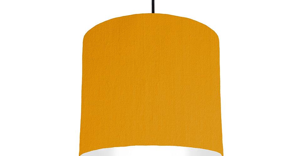 Mustard & White Lampshade - 25cm Wide