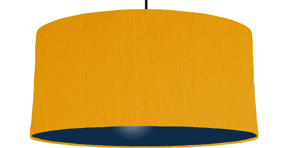 Mustard & Navy Lampshade - 60cm Wide