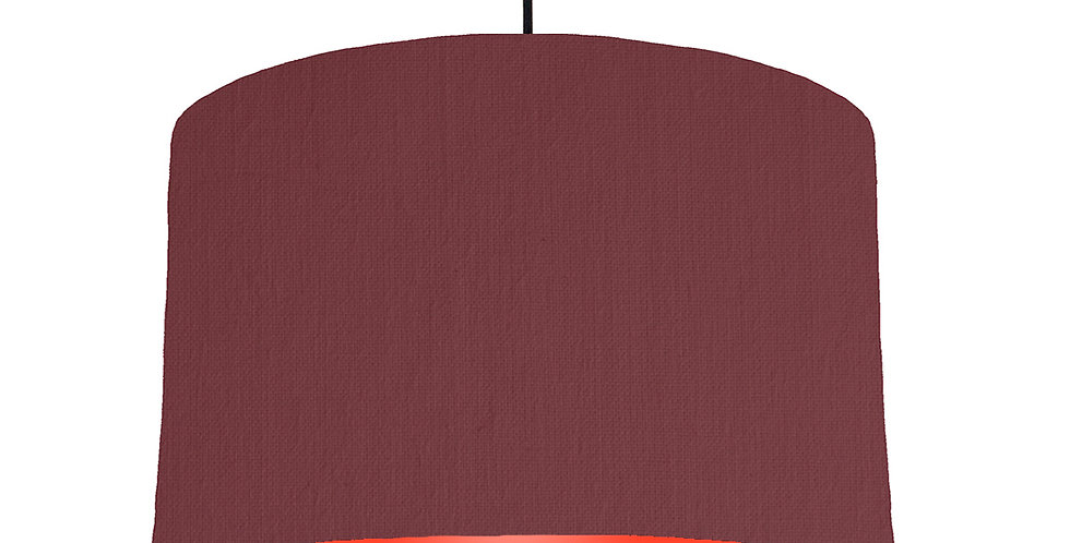 Wine Red & Poppy Red Lampshade - 40cm Wide