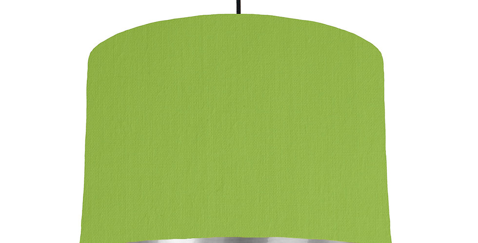 Pistachio & Silver Mirrored Lampshade - 30cm Wide
