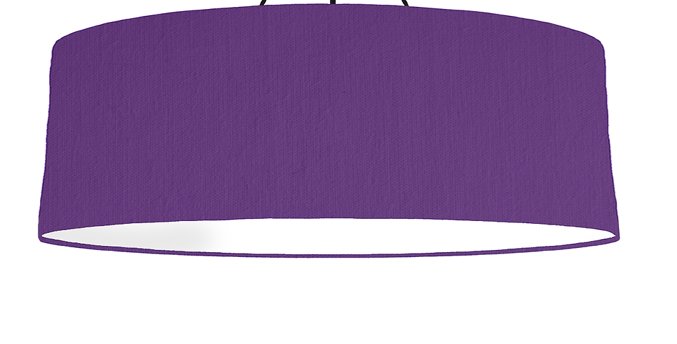 Violet & White Lampshade - 100cm Wide