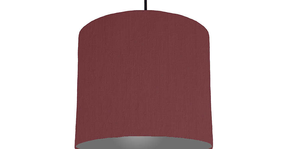 Wine Red & Dark Grey Lampshade - 25cm Wide