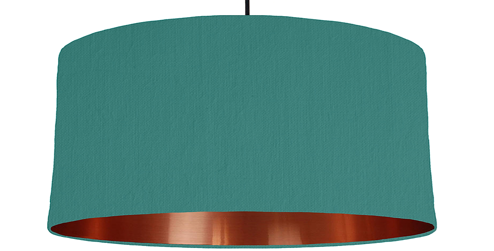 Jade & Copper Mirrored Lampshade - 60cm Wide