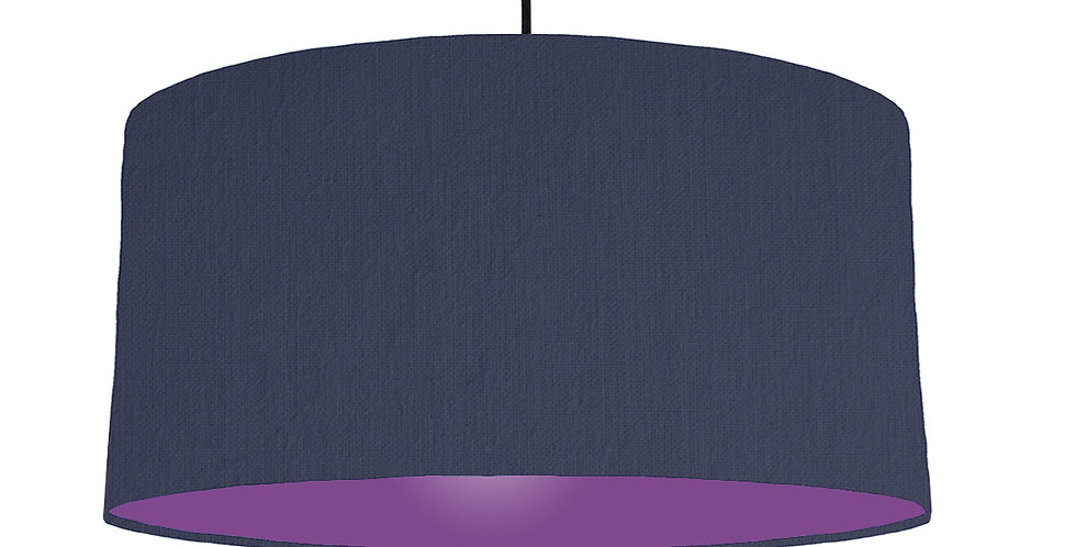 Navy Blue & Purple Lampshade - 60cm Wide