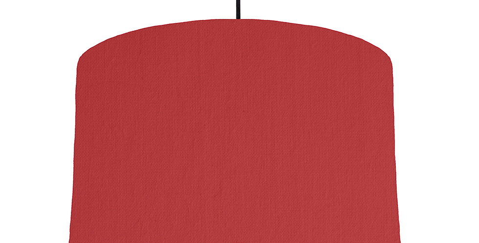 Red & White Lampshade - 40cm Wide