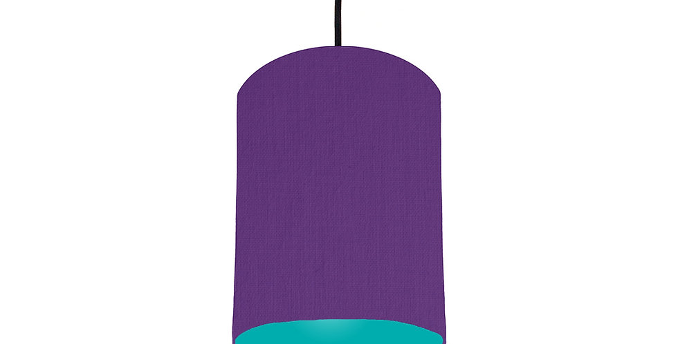 Violet & Turquoise Lampshade - 15cm Wide