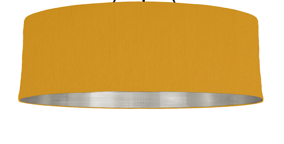 Mustard & Brushed Silver Lampshade - 100cm Wide