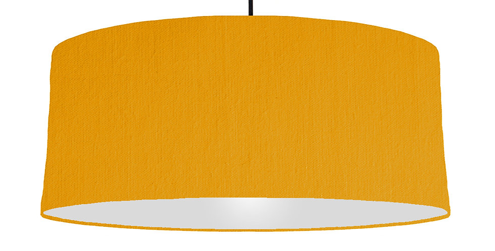 Mustard & Light Grey Lampshade - 70cm Wide
