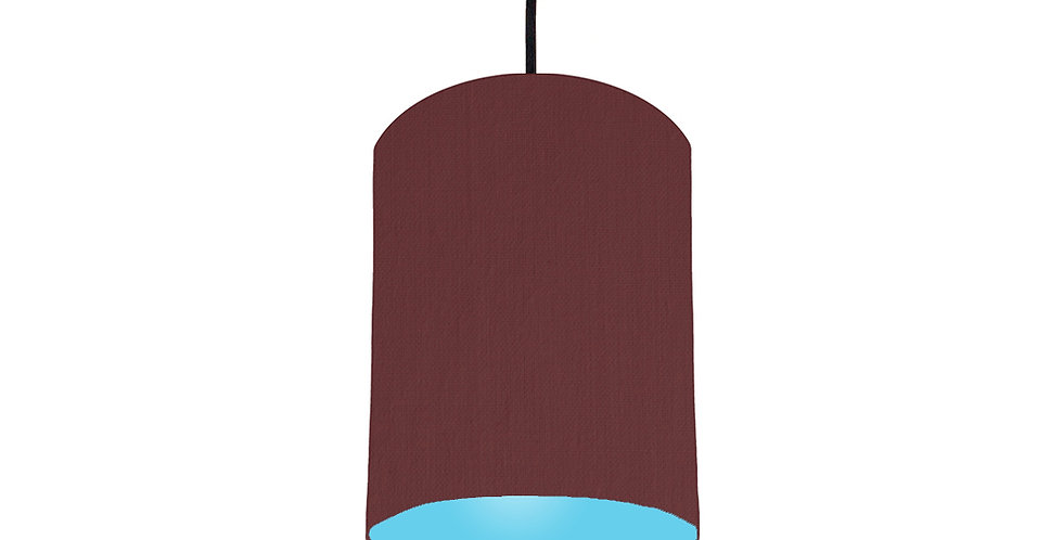 Wine Red & Light Blue Lampshade - 15cm Wide