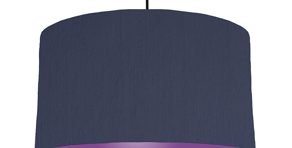 Navy Blue & Purple Lampshade - 50cm Wide