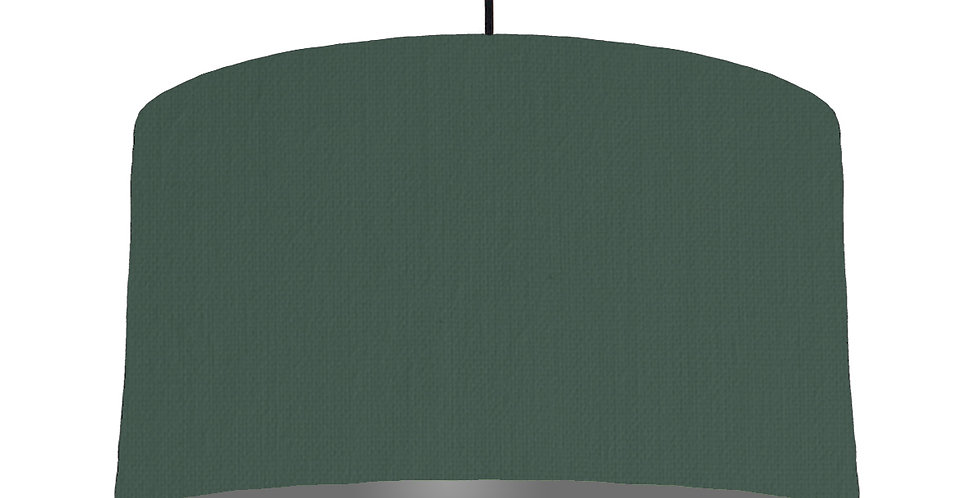 Bottle Green & Dark Grey Lampshade - 50cm Wide