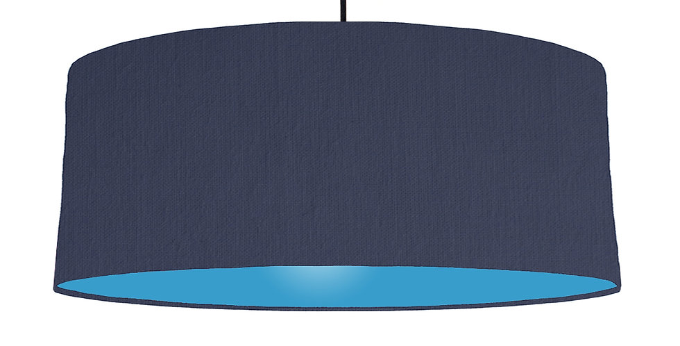 Navy Blue & Light Blue Lampshade - 70cm Wide