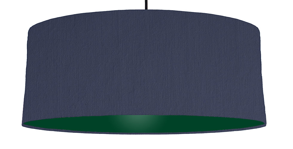 Navy Blue & Forest Green Lampshade - 70cm Wide