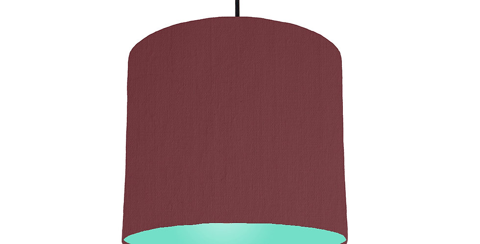 Wine Red & Mint Lampshade - 25cm Wide