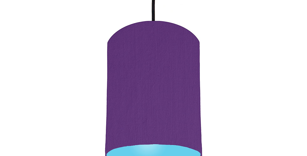 Violet & Light Blue Lampshade - 15cm Wide