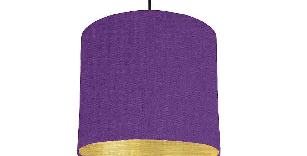 Violet & Brushed Gold Lampshade - 25cm Wide