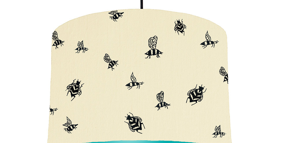 Bumble Bee Lampshade - Natural & Turquoise