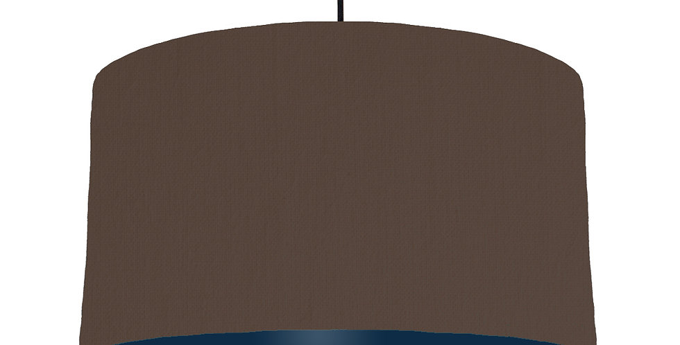 Brown & Navy Lampshade - 50cm Wide