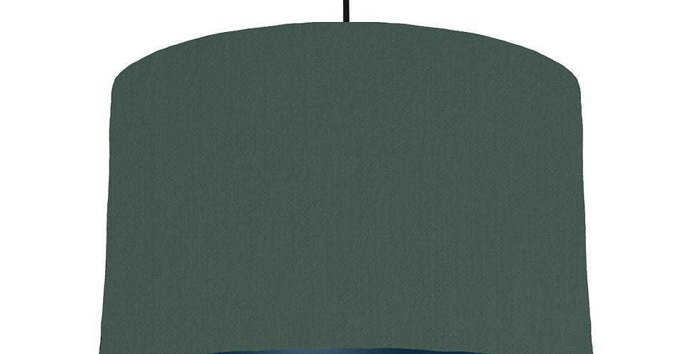 Bottle Green & Navy Lampshade - 40cm Wide
