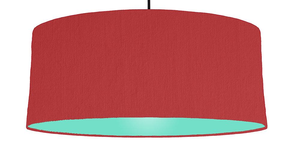 Red & Mint Lampshade - 70cm Wide