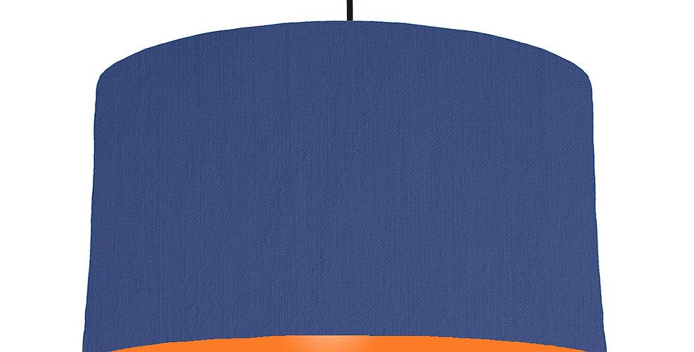 Royal Blue & Orange Lampshade - 50cm Wide