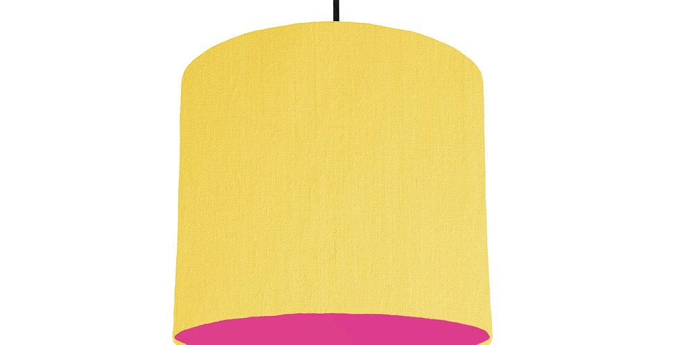 Lemon & Magenta Lampshade - 25cm Wide