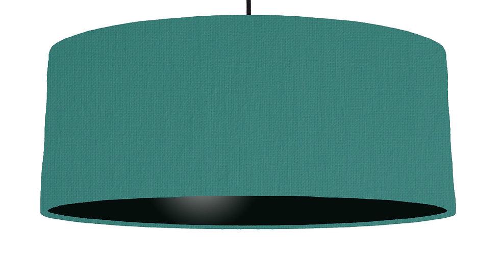 Jade & Black Lampshade - 70cm Wide