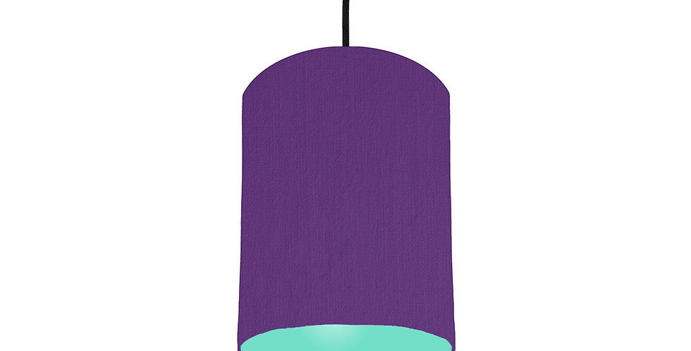 Violet & Mint Lampshade - 15cm Wide