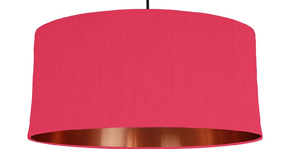 Cerise & Copper Mirrored Lampshade - 60cm Wide