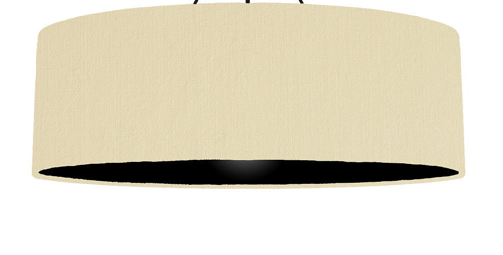 Natural & Black Lampshade - 100cm Wide